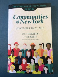 Cover of the Researching NY Conference Program