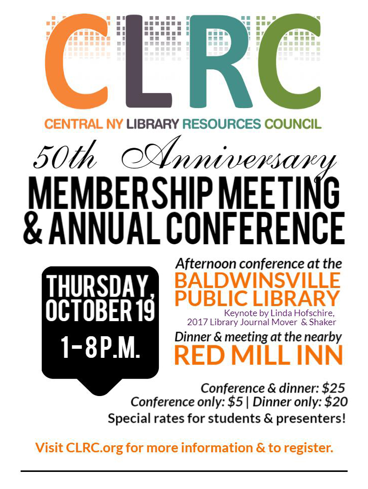 CLRC 50th anniversary membership meeting and annual conference