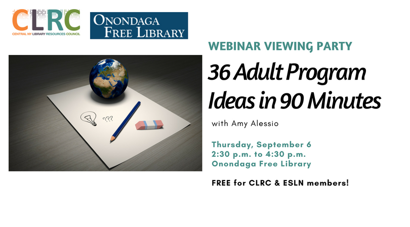 Webinar Viewing Party: 36 Adult Program Ideas in 90 Minutes (9/6)