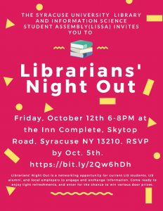 Librarians' Night Out Flyer