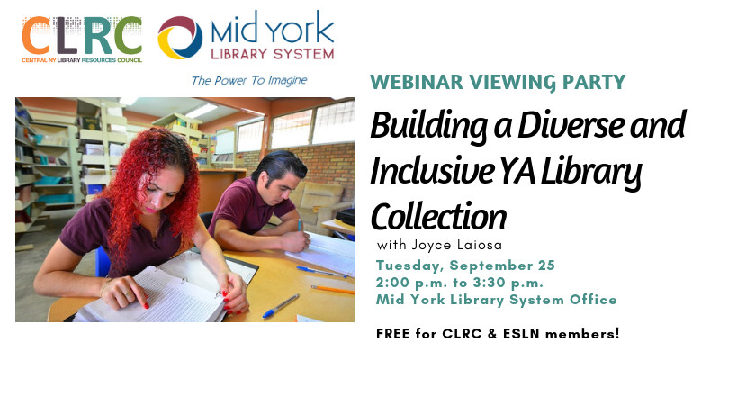 Webinar Viewing Party: Building a Diverse and Inclusive YA Library Collection