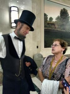 Christine Fleischer and Abraham Lincoln