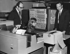 Staff with IBM System/360 Model 40, SUNY BCN